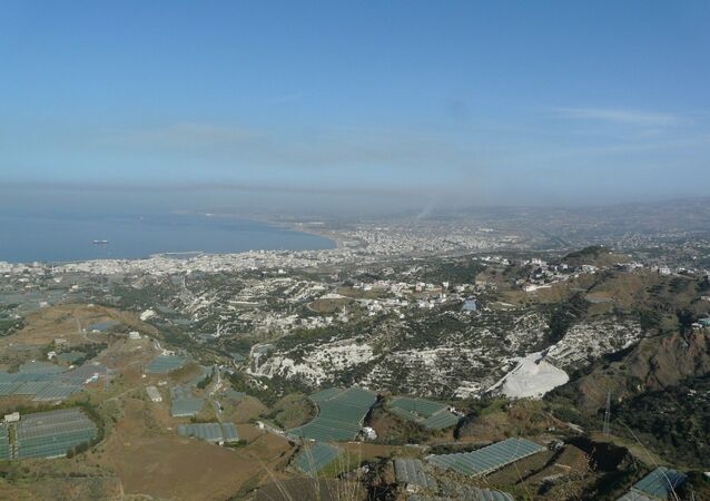 Baniyas from over Marqab castle.