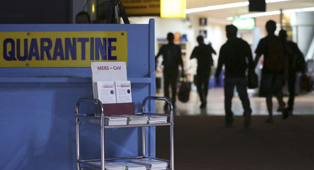 une zone de quarantaine dans un aéroport