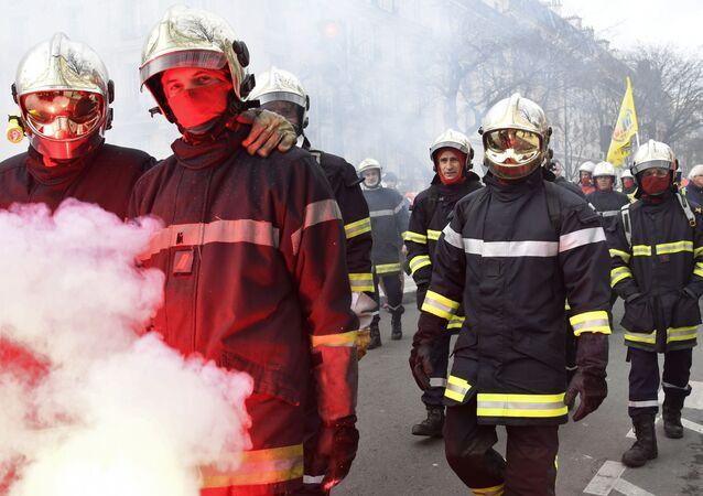 Manifestation des pompiers