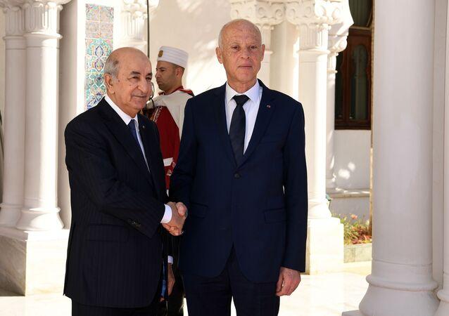 Abdelmadjid Tebboune et Kaïs Saied à Alger