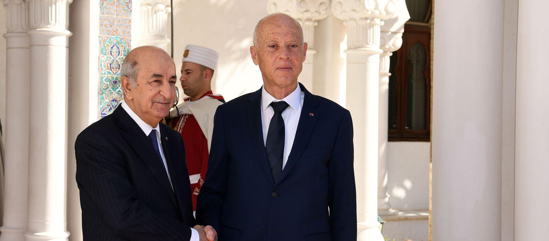 Abdelmadjid Tebboune et Kaïs Saied à Alger - Sputnik France, 1920, 03.08.2021