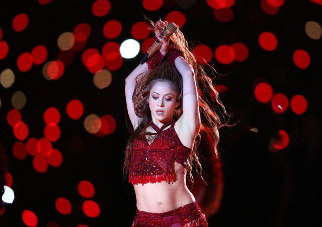 Shakira lors du Super Bowl