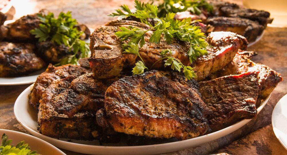 De la viande grillée