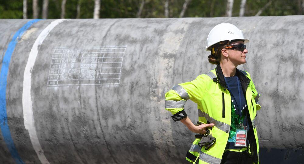 Travaux de construction du gazoduc Nord Stream 2 (archive photo)
