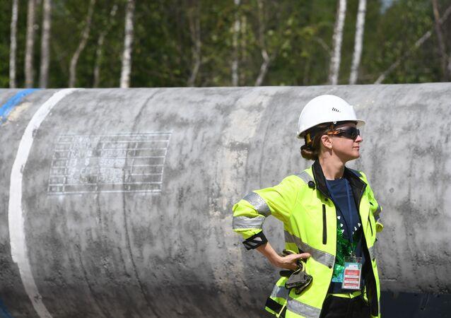 Travaux de construction du gazoduc Nord Stream 2 (photo d'archive)