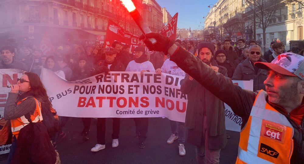 Grève contre la réforme des retraites, 6 février 2020, Paris