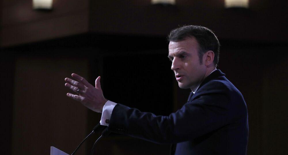 Emmanuel Macron à l'École de Guerre