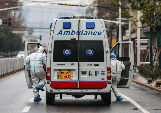 Ambulance à Wuhan, Chine