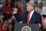 US-Präsident Donald Trump bei einer Wahlveranstaltung in Toledo, US-Bundesstaat Ohio