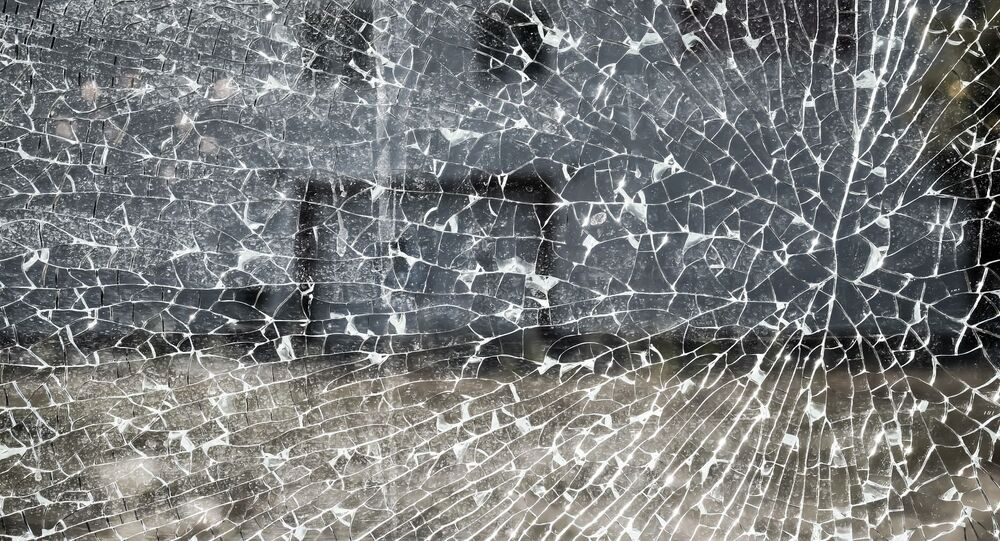 Glace brisée (image d'illustration)