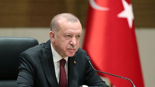 Turkish President Tayyip Erdogan speaks during a news conference in Istanbul, Turkey, February 3, 2020 - Sputnik France