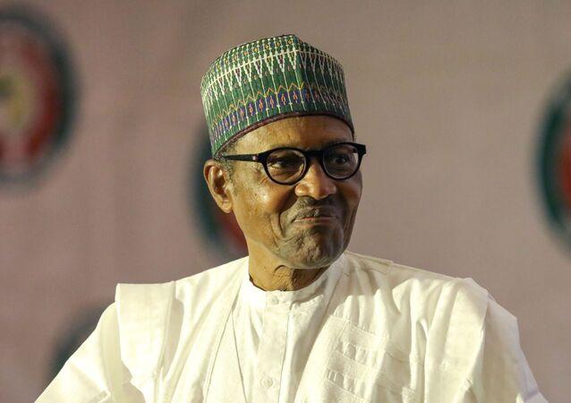 Le Président du Nigeria, Muhammadu Buhari.