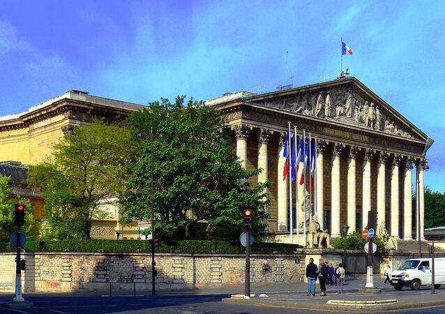 Le palais Bourbon vue du quai Anatole-France