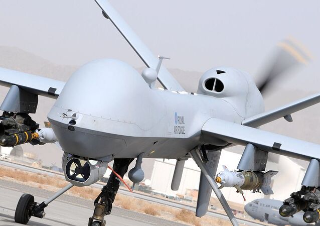 UK Reaper Drone MQ9. Image d'illustration