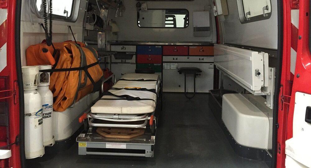 Intérieur d'un véhicule de secours
