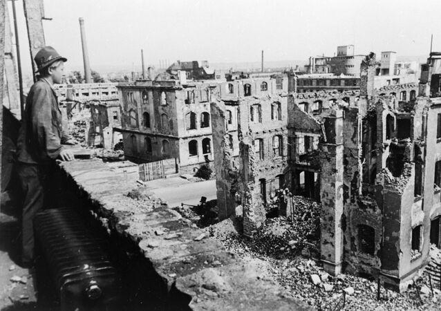 Les ruines de Dresde