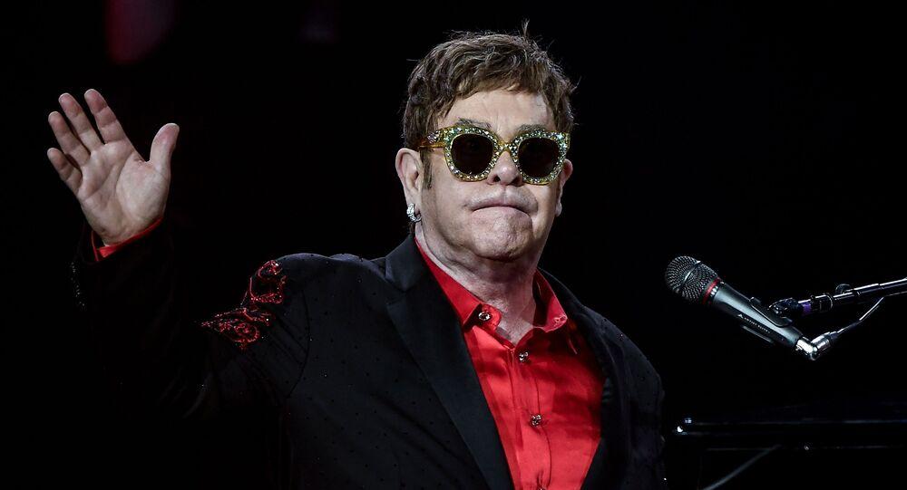 Британский певец Элтон Джон выступает в концертном зале Крокус Сити Холл в рамках мирового турне Wonderful Crazy Night Tour.