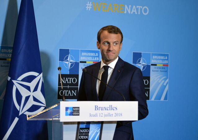 Emmanuel Macron lors d'un sommet de l'Otan