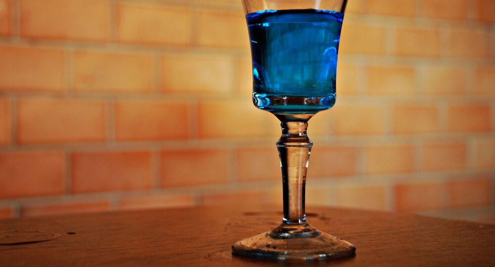 Boisson bleue