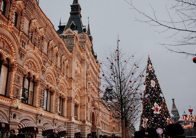 Cette année, Moscou a été pratiquement privé de neige, hiver 2019-2020