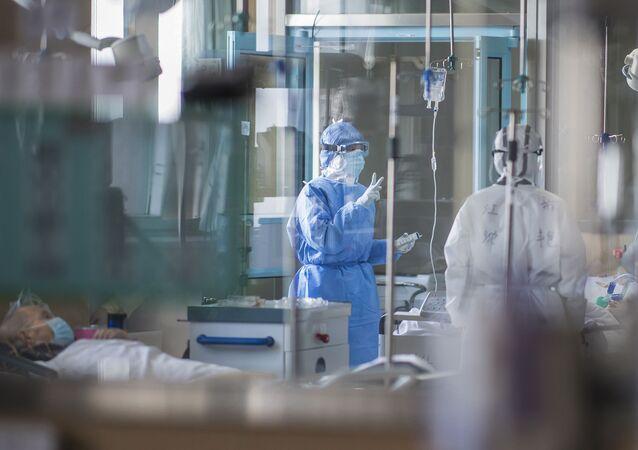 Un hôpital à Wuhan pendant la pandémie de Covid-19