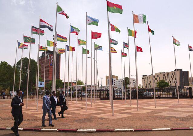 Drapeaux de pays africains, photo d'illustration