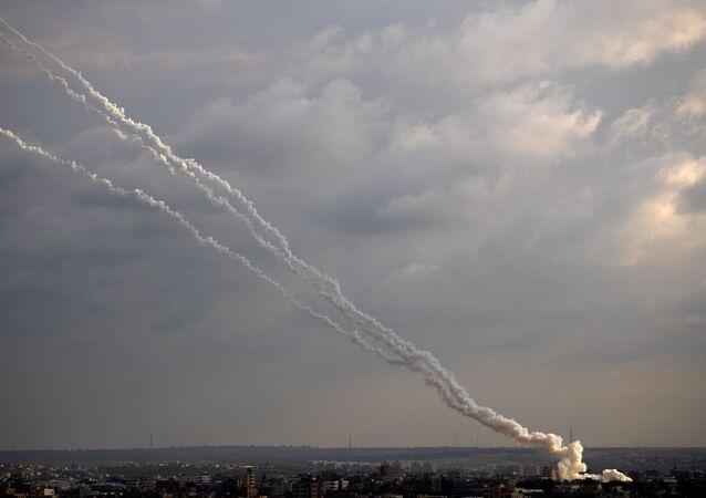 Tir de roquettes depuis la bande de Gaza, archives