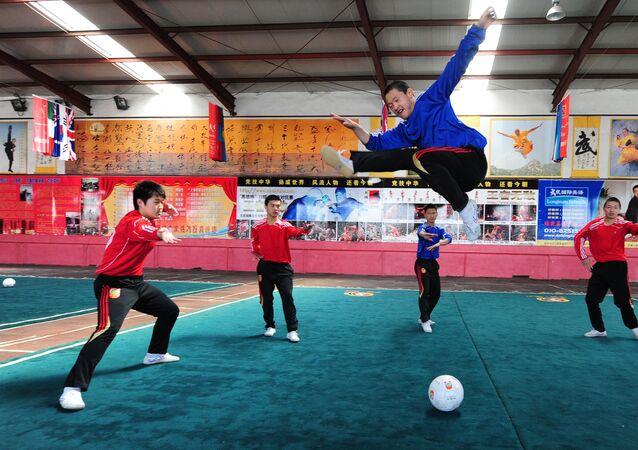 Une école de kung-fu aux environs de Pékin