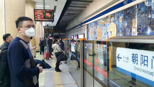 Une station de métro à Pékin après l'annonce de l'épidémie du coronavirus 2019-nCoV (archive photo) - Sputnik France