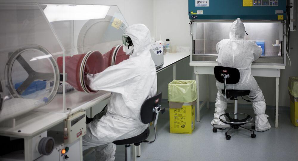 Des chercheurs de l'institut Pasteur de Bangui qui travaillent sur le virus Ebola.