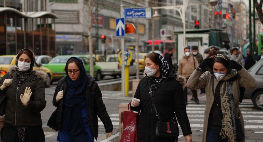 Une rue de Téhéran pendant l'épidémie du coronavirus Covid-19 (archive photo)