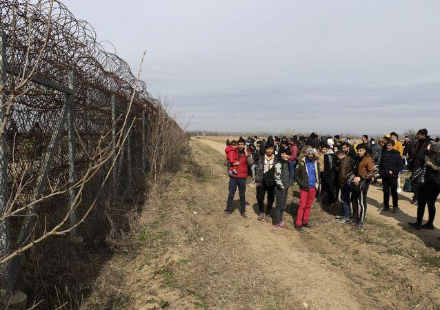 La frontière entre la Turquie et la Grèce à Edirne