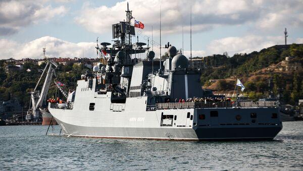 La frégate Amiral Makarov fait route vers la Méditerranée - Sputnik France