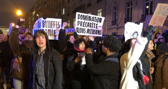 Mobilisation contre les nominations de Roman Polanski, Paris, le 28 février