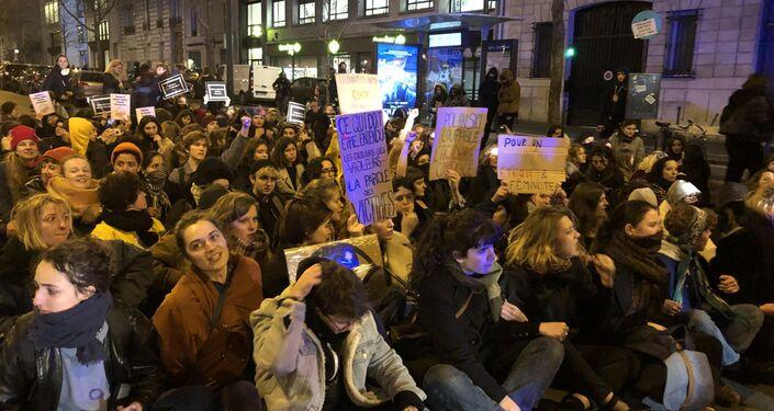 Mobilisation contre la présence et les nominations de Roman Polanski, Paris, le 28 février