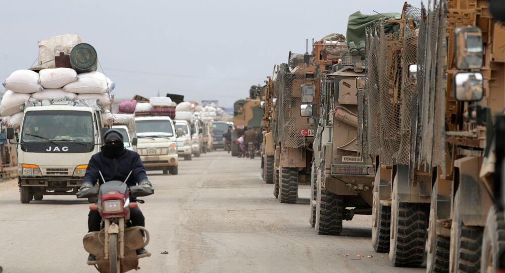 Des matériels de guerre turcs non loin d'Idlib (photo d'archives)
