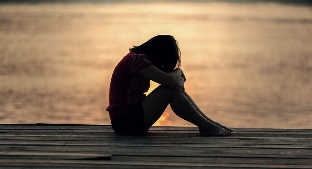 Une femme triste