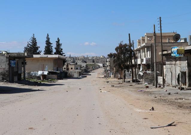 La ville syrienne de Saraqeb