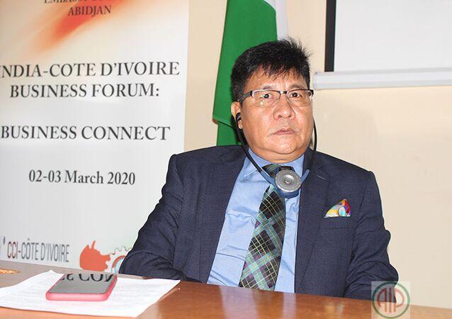 L'ambassadeur de l'Inde en Côte d'Ivoire, Sailas Thangal.