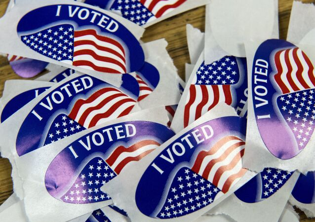 A stack of I voted stickers