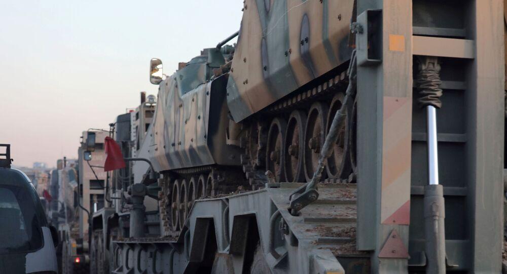 Des véhicules turcs en Syrie