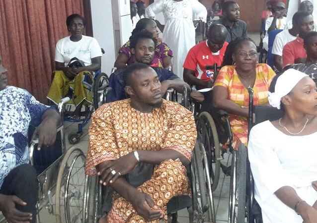 Des Ivoiriens en situation de handicap.