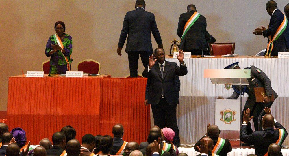 Le Président Alassane Ouattara annonce qu'il ne se présentera pas à sa succession à la présidence de Côte d'Ivoire, le 5 mars 2020.