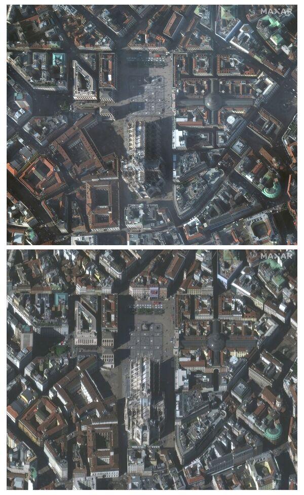 L'épidémie de Covid-19 vue de l'espace  - Sputnik France