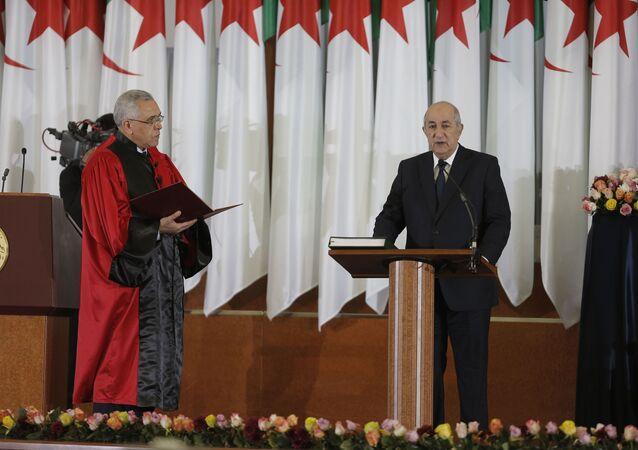 Le Président Abdelmadjid Tebboune prêtant serment