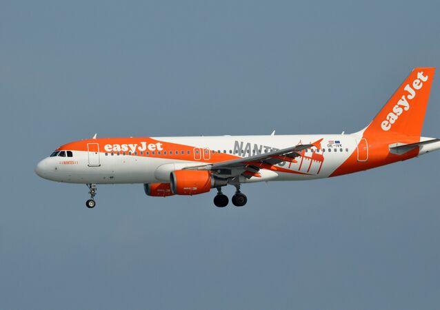 Un Airbus A320 d'EasyJet