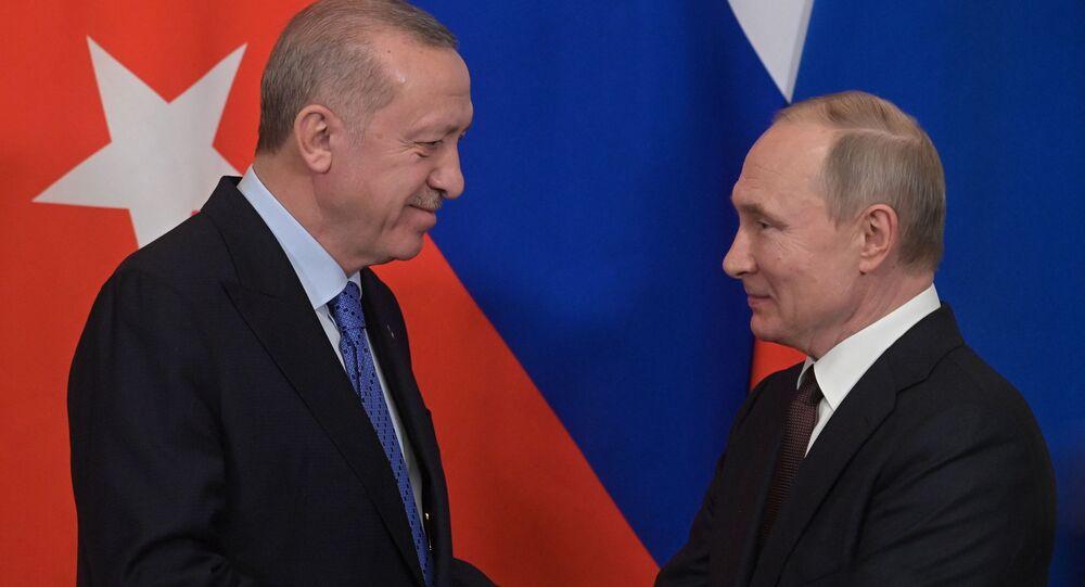 Présidents russe et turc, Vladimir Poutine et Recep Tayyip Erdogan