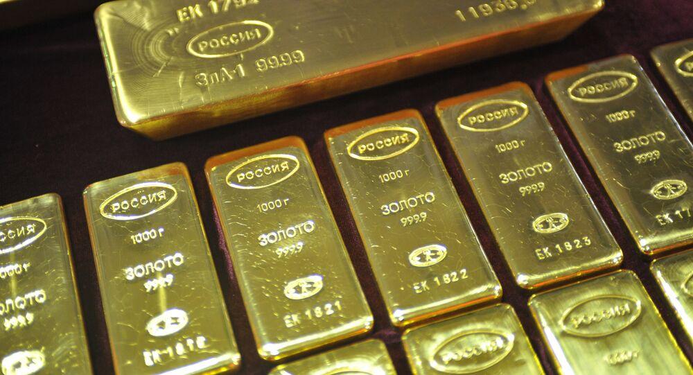 Lingots d'or fabriqués en Russie (archive photo)