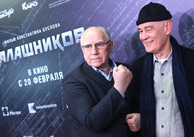 Lors d'une première moscovite du film Kalachnikov