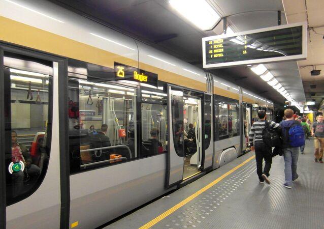 Station du métro à Bruxelles
